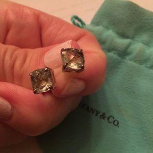 Tiffany & Co. praseolite earrings